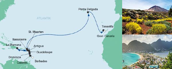 AIDA Traumstart um 12 Angebot Von Barbados nach Gran Canaria