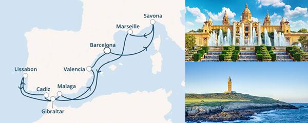 Routenverlauf Costa Die Seele Spaniens