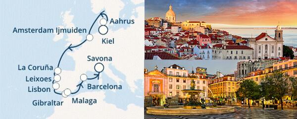 Routenverlauf Costa Schönheiten Europas