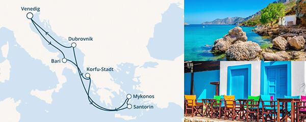 Routenverlauf Costa Geschichte vom Meer