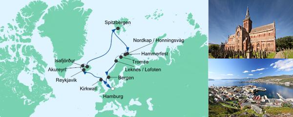 AIDA Spezialangebot Highlights am Polarkreis 2