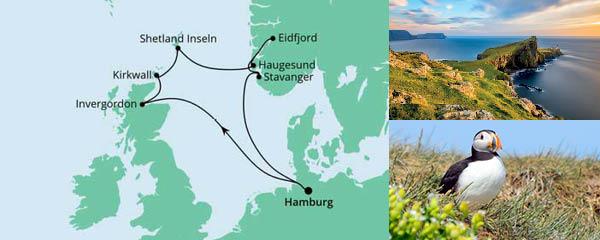 Routenverlauf Nordische Inseln & Norwegen 2 am 04.04.2022