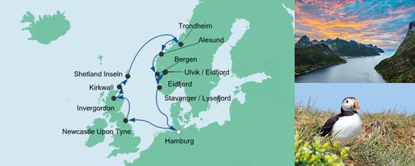AIDA Seetours Angebot Nordische Inseln & Norwegen 2
