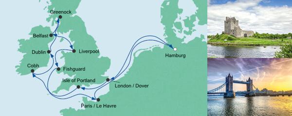 AIDA Wochenendeinkauf Angebot Großbritannien & Irland 2