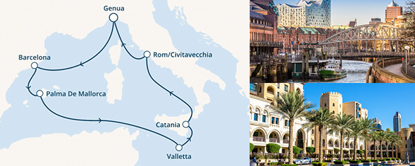 Routenverlauf Costa