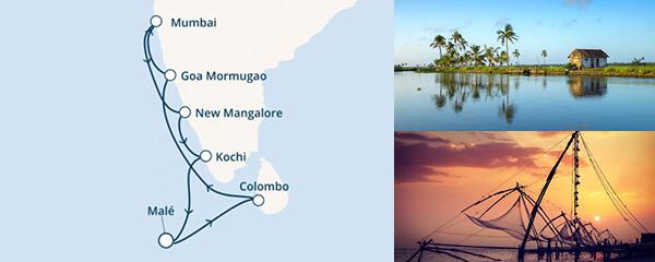 Routenverlauf Die Farben Indiens am 25.01.2020