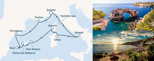 Routenverlauf Costa Überraschendes Italien