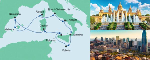 AIDA Pauschal Angebot Italien & Mittelmeerinseln