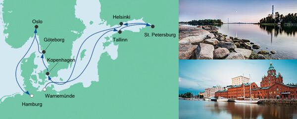 Baltikum & Skandinavien ab Warnemünde