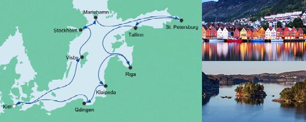 AIDA Seetours Angebot Ostsee Rundreise mit Visby