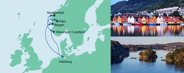 AIDA Spezialangebot Norwegens Küste