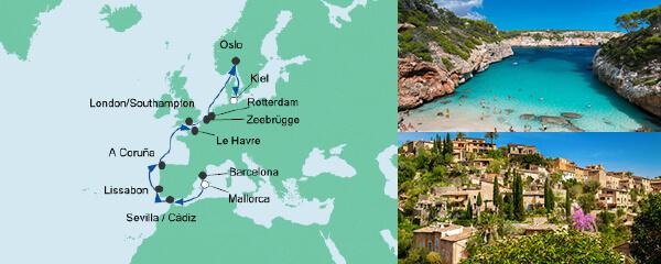AIDA Spezialangebot Von Mallorca nach Kiel 2