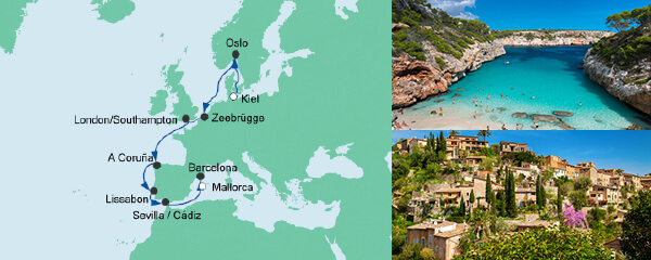 Von Kiel nach Mallorca