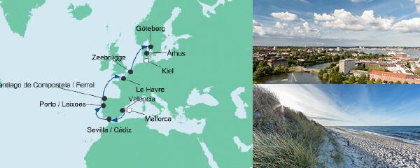 AIDA Pauschal Angebot Von Mallorca nach Kiel