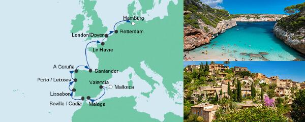 AIDA Seetours Angebot Von Mallorca nach Hamburg 1