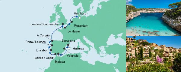 AIDA Seetours Angebot Von Mallorca nach Hamburg 2