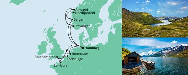 AIDA Angebot Metropolen & Norwegen ab Hamburg 1