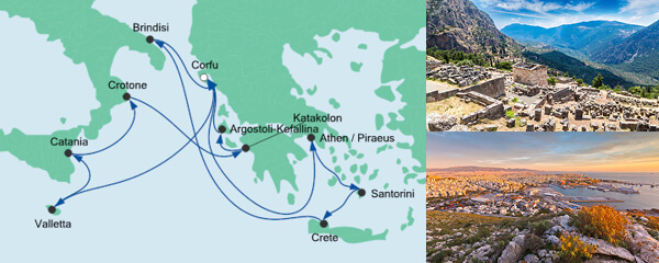 Routenverlauf Griechenland & Mittelmeerinseln 1 am 22.09.2020