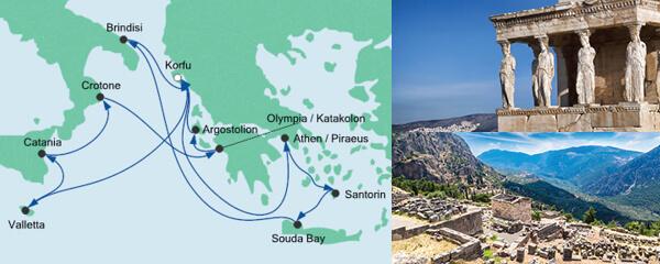 Routenverlauf Griechenland & Mittelmeerinseln 2 am 21.07.2020