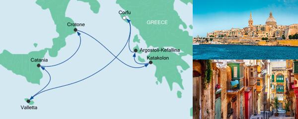 Routenverlauf Mittelmeerinseln ab Korfu am 25.05.2021