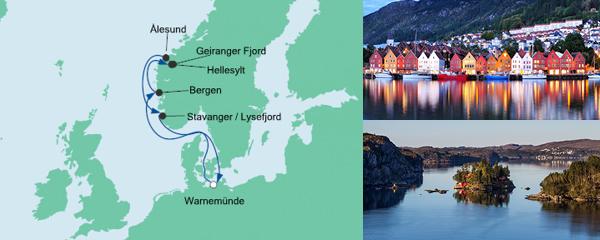AIDA Spezialangebot Norwegens Fjorde ab Warnemünde