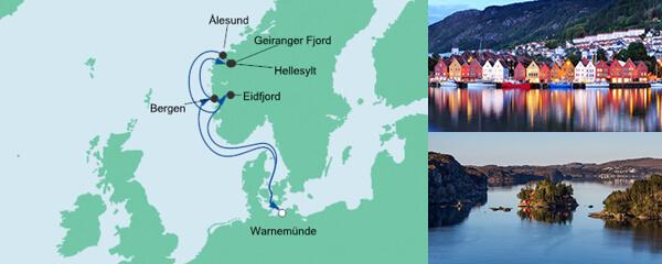 AIDA Pauschal Angebot Norwegens Fjorde ab Warnemünde