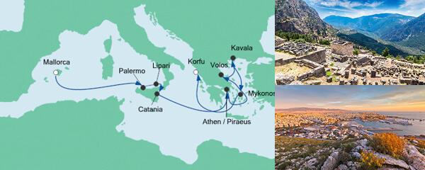 Von Mallorca nach Korfu mit Mykonos