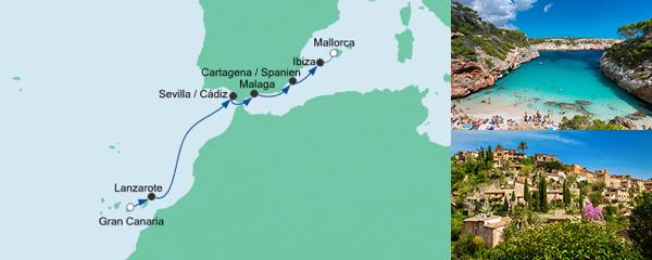 AIDA Spezialangebot Von Gran Canaria nach Mallorca 1