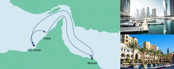 Routenverlauf Orient ab Dubai am 11.12.2020
