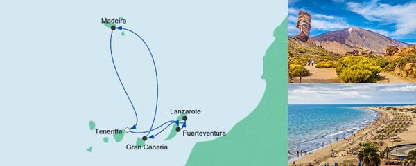 Routenverlauf Kanaren & Madeira ab Teneriffa am 23.03.2022
