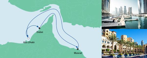 Routenverlauf Orient ab Abu Dhabi am 29.12.2020