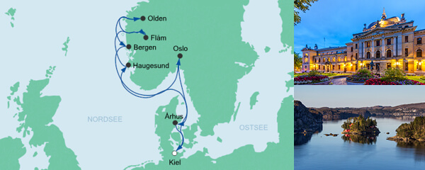AIDA Spezialangebot Norwegens Küste mit Fjorden ab Kiel