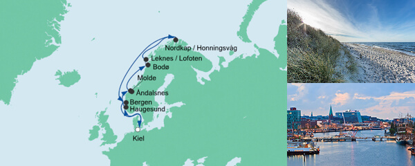 AIDA Spezialangebot Norwegen mit Lofoten & Nordkap 2