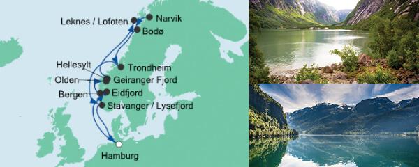 AIDA Spezialangebot Norwegens Fjorde mit Lofoten