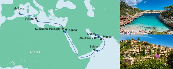 AIDA Pauschal Angebot Von Dubai nach Mallorca 2