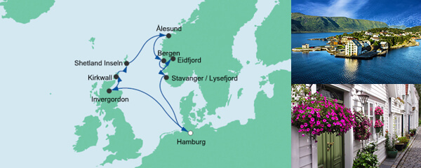 AIDA Spezialangebot Nordische Inseln & Norwegen