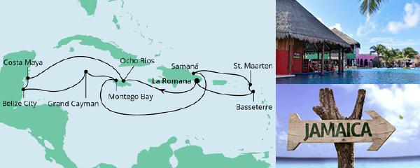 AIDA Spezialangebot Karibik & Mexiko ab Dominikanische Republik