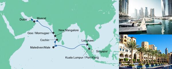 AIDA Pauschal Angebot Von Singapur nach Dubai