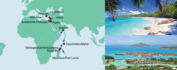 Von Kreta nach Mauritius