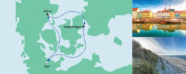 Routenverlauf Kurzreise nach Dänemark am 16.09.2021