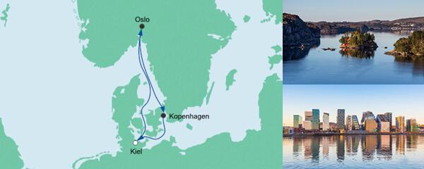 AIDA Verlockung der Woche Angebot Kurzreise nach Norwegen & Dänemark