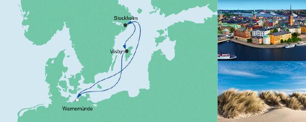 AIDA Seetours Angebot Kurzreise nach Schweden