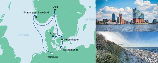 AIDA Verlockung der Woche Angebot Skandinavische Städte von der Nordsee zur Ostsee
