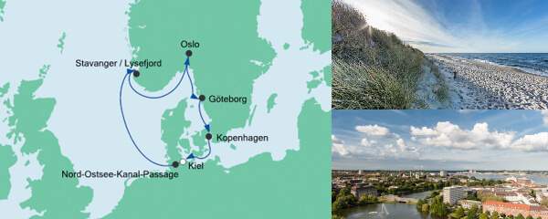 AIDA Pauschal Angebot Skandinavische Städte ab Kiel