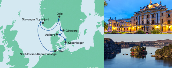 AIDA Spezialangebot Skandinavische Städte mit Aalborg