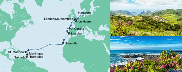 AIDA Spezialangebot Von Hamburg nach Barbados 1