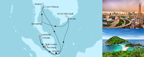 14 Tage Asien mit Singapur