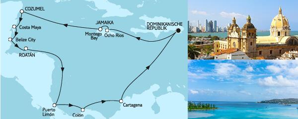 Routengrafik Mittelamerika I