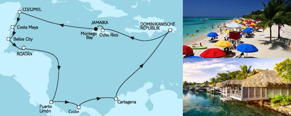 Routenverlauf Mittelamerika II am 11.01.2021