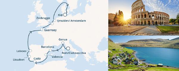 Routenverlauf Costa Magisches Europa